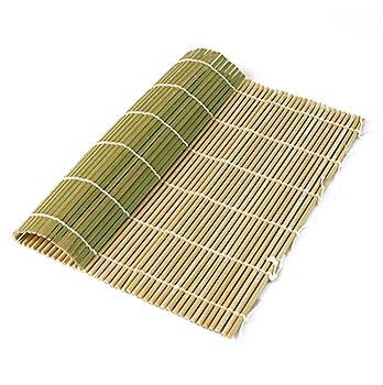 Bambusová rohož pro výrobu sushi, přírodní, 24 x 24cm, ´kulaté tyčinky, ks