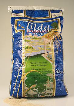 Basmati rýže, Tilda, v praktickém sáčku se zipem, 20 kg