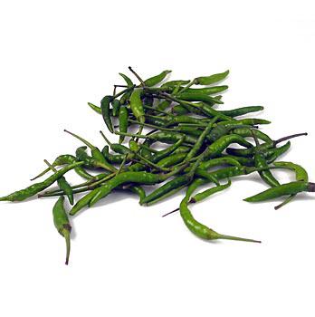 Chilli papričky, zelené, malé, čerstvé, 100 g-NEDOSTUPNÉ
