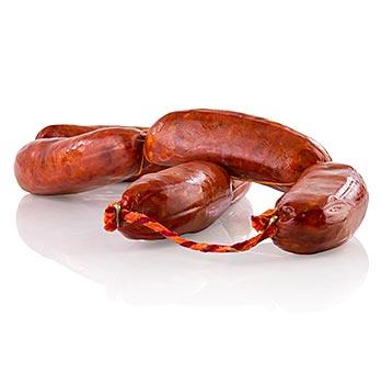 Chorizo Rosario, pikantní klobása, běžná kvalita, a Stra Julia, Španělsko