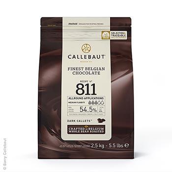 Jemná hořká čokoláda, pecky, 53% kakaa, 2,5 kg
