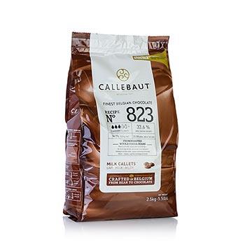 Mléčná čokoláda, pecky, 33% kakaa, 2,5 kg