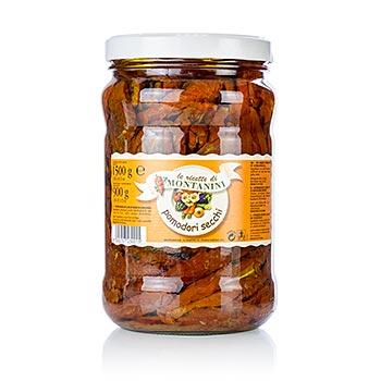 Sušená rajčata, slunečnicový olej, kořeněné, z Montanini, 1.5 kg