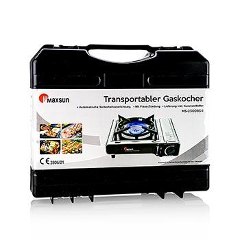 Plynový vařič v kufru s piezo zapalováním, ks
