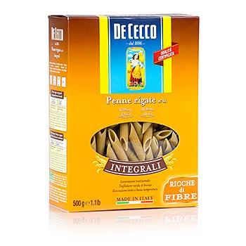 De Cecco celozrnné Penne Rigate, No.41, 500 g