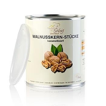 Vlašské ořechy, kousky, karamelizované, 500 g