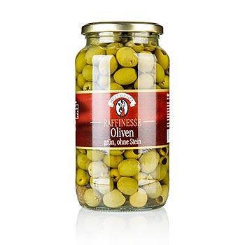 Zelené olivy, bez pecky, 935 g