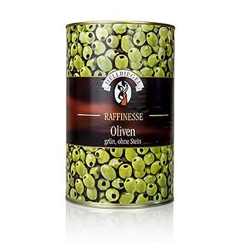 Zelené olivy, bez pecky, 4,2 kg