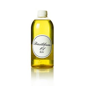 Bazalkový olej - řepkový olej s bazalkou, 500 ml