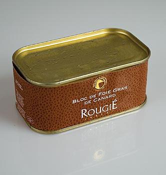 Kachní játra blok, 98% játra foie gras, Rougié, 200 g