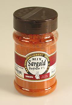 Safripa - šafrán aroma směs, s 3% g šafránem, paprikou a kurkumou, 170 g