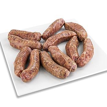 Salsiccia fresca - toskánská čerstvá klobása na pečení, zmraz., Montalcino Salumi, cca 1 kg
