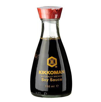Sojová omáčka - Shoyu, Kikkoman, stolní lahvička s nálevkou, Japonsko, 150 ml