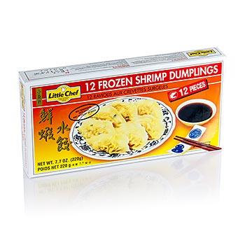 Wan Tan - Taštičky z těsta, krevety (s rybím masem), 12 x cca.18g, zmrazené, 220 g
