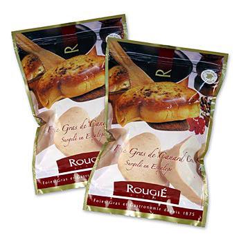 Foie Gras, 2 x 20 malých plátků á 50g, Rougié, zmraz., cca 2 x 1 kg