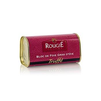 Husí játra blok, s 3% lanýže, lichoběžník, 95% játra foie gras, Rougié (zimní sezóna), 210 g