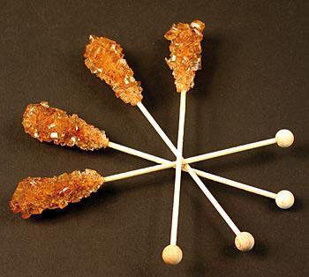 Kandis tyčinky, z hnědého cukru, krystaly cukru na tyčince, 100 ks, 1 kg