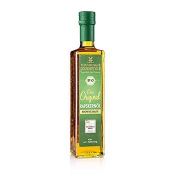 Řepkový olej, za studena lisovaný z loupaných řepkových nativních semen, BIO-certifikovaný, 500 ml