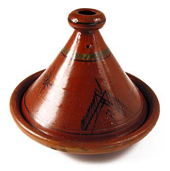 Kuskus. hrnec z hlíny - Tajine, velký, vnější prům. 30 cm, 23cm vys., ks