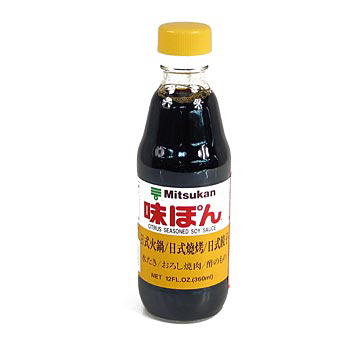 Sojová omáčka - Aji Pon, s citrónovou příchutí, Mitsukan, Japonsko, 360 ml