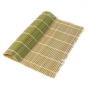 Bambusová rohož pro výrobu sushi, zelená, 27 x 26,5 cm, ploché tyčinky, ks