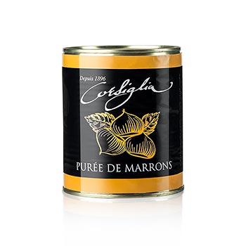 Kaštanové pyré, tuhé a téměř neslazený (oranžová dóza), Corsiglia Facor, 870 g
