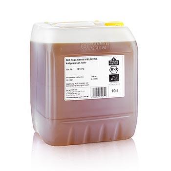 Řepkový olej, za studena lisovaný z loupaných řepkových nativních semen, BIO-certifikovaný, 10 l