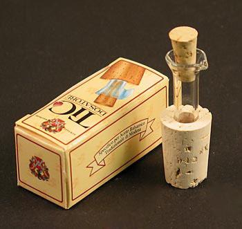 Výlevka z láhve pro Aceto Balsamico & olej (Kapátko TIC z korku se skleněnou trubicí), ks