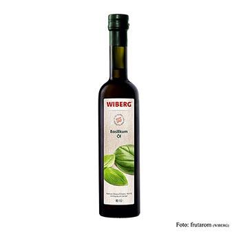 Wiberg bazalkový olej, za studena lisovaný, extra panenský olivový olej s aroma bazalky, 500 ml