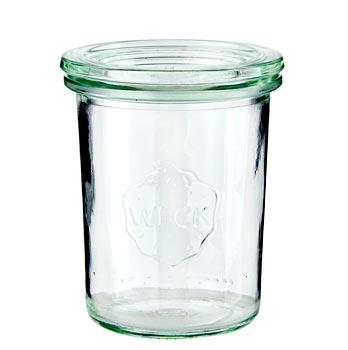 Mini zavař.sklenice na vyklop., prům. 60 mm, 80 mm vys., 160 ml, bez spon a gumičky, Weck, ks