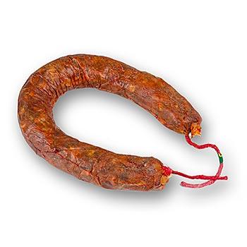 BOS FOOD - pikantní chorizo Heradura ve tvaru podkovy, z iberského prasete, cca 250g