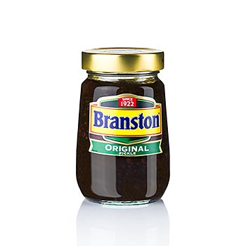 Branston okurky, zelenina, datle a kousky jablek, sladko-kyselé, 310 g