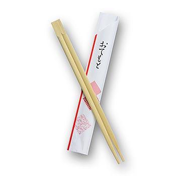 Sushi japonské hůlky na jedno použití, vyrobené z bambusu, dekorativně zabalené, 21cm dl., 100 párů