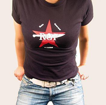 RGF Girlie tričko, černé s logem, velikost M, ks