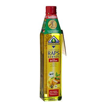 Řepkový olej na smažení, za studena lisovaný z loupaných řepkových semen, BIO-certifikovaný, 500 ml