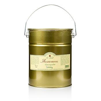 Akátový med, Maďarsko, barva champagne, tekutý, jemný-sladký, dobrý pro slazení, 5 kg