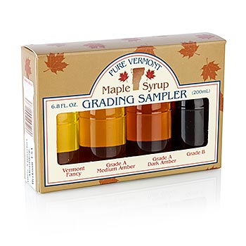 Javorový sirup - test box, s Light, Medium, Dark, B-Grade, 4 x 50 ml