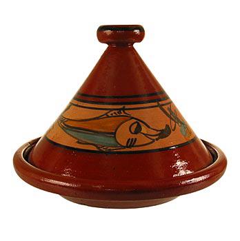 Kuskus. hrnec z hlíny - Tajine, velký, vnější prům. 32 cm, 27 cm vys., ks