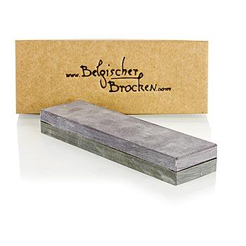 Brusný kámen Belgischer Brocken, kombinovaný kámen šedý/světle šedý, 15x4cm, hrubost 1000/5000, ks