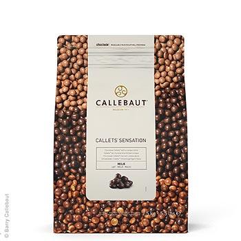 Callets Sensation Milch, mléčné čokoládové perly, 33% kakaa, 2,5 kg