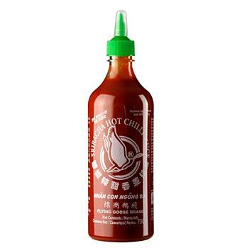 Chilli omáčka - Sriracha, velmi ostrá, láhev-střička, 730 ml