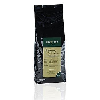 """""""BOS FOOD De Luxe"""" - espresso, 100% Arabica, celá zrna, 1 kg"""