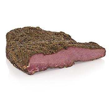 Original American Pastrami 'New York' - za horka uzený bůček z hovězího masa, cca 1,5 až 2 kg