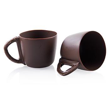 Forma z čokolády - šálky na Espresso, velké, tmavá čokoláda, o 50mm, 45mm vysoké, 45 ks
