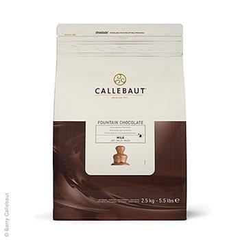 Mléčná čokoláda, pro fontánu a na Fondue, pecky, 37,8% kakaa, 2,5 kg