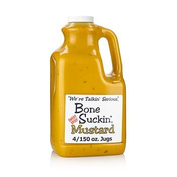 Bone Suckin´ Mustard, hořčice na barbecue, Ford´s Food - Gallon, 3,78 l