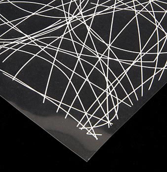 Dekorativní fólie - bílé linie, list 28x36 cm, Günthart, 30 listů