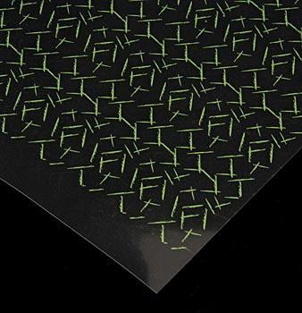 Dekorativní fólie - zelené čárky, list 28x36 cm, Günthart, 30 listů