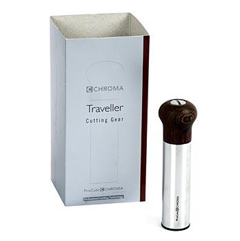 Chroma-04 ProCut - 'Traveller' Titanium kráječ na koření, nerez/wenge, 11,7 cm, ks