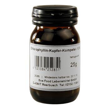 Chlorofyl, vodou rozpustný prášek, E141, 25 g